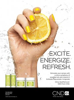 cnd spa manicure excite citrus
