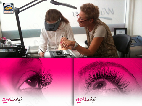 wimperverlenging met wishlashes wimperextensions